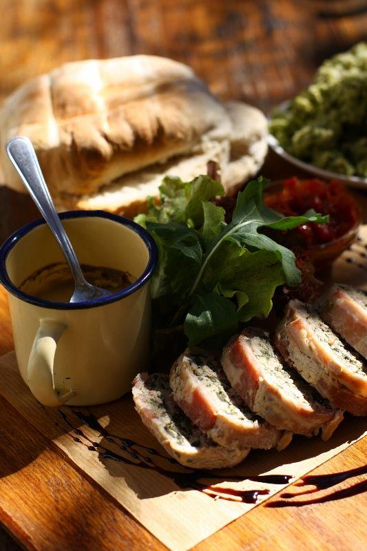 Karoo Platter (chicken liver parfait, tomato chutney, pork terrine with vetkoek