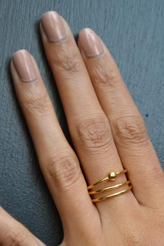 Maria Black Helix Trapez Gold Ring