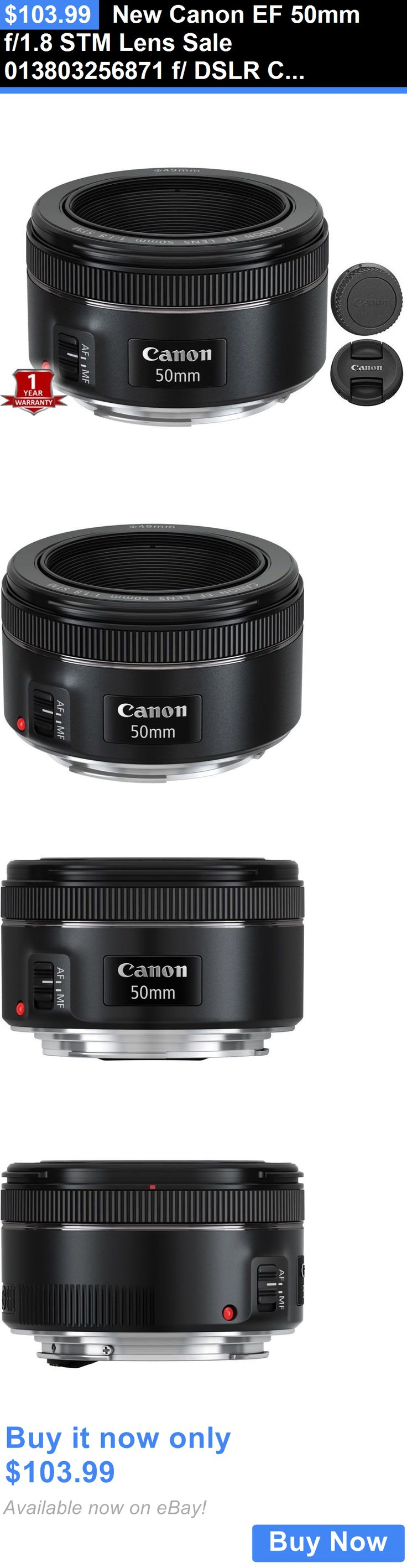 photo and video: New Canon Ef 50Mm F/1.8 Stm Lens Sale 013803256871 F/ Dslr Cameras BUY IT NOW ONLY: $103.99
