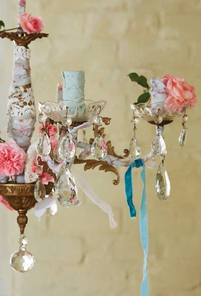 135 best decorate your chandeliers images on pinterest christmas decorated chandelier aloadofball Images