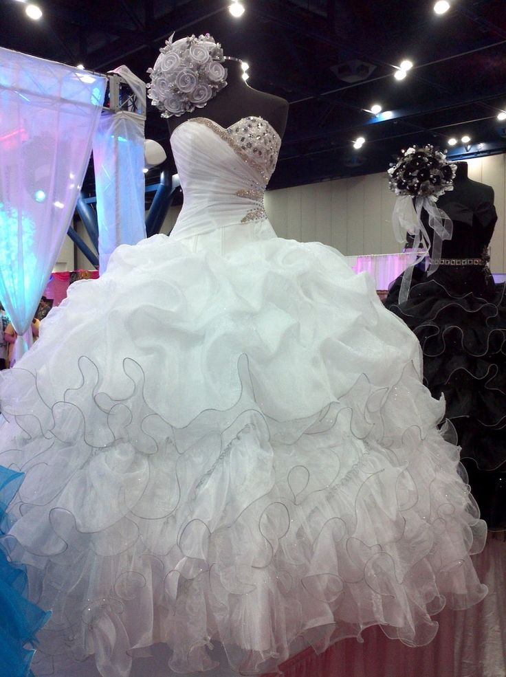 wedding dresses ball gown puffy