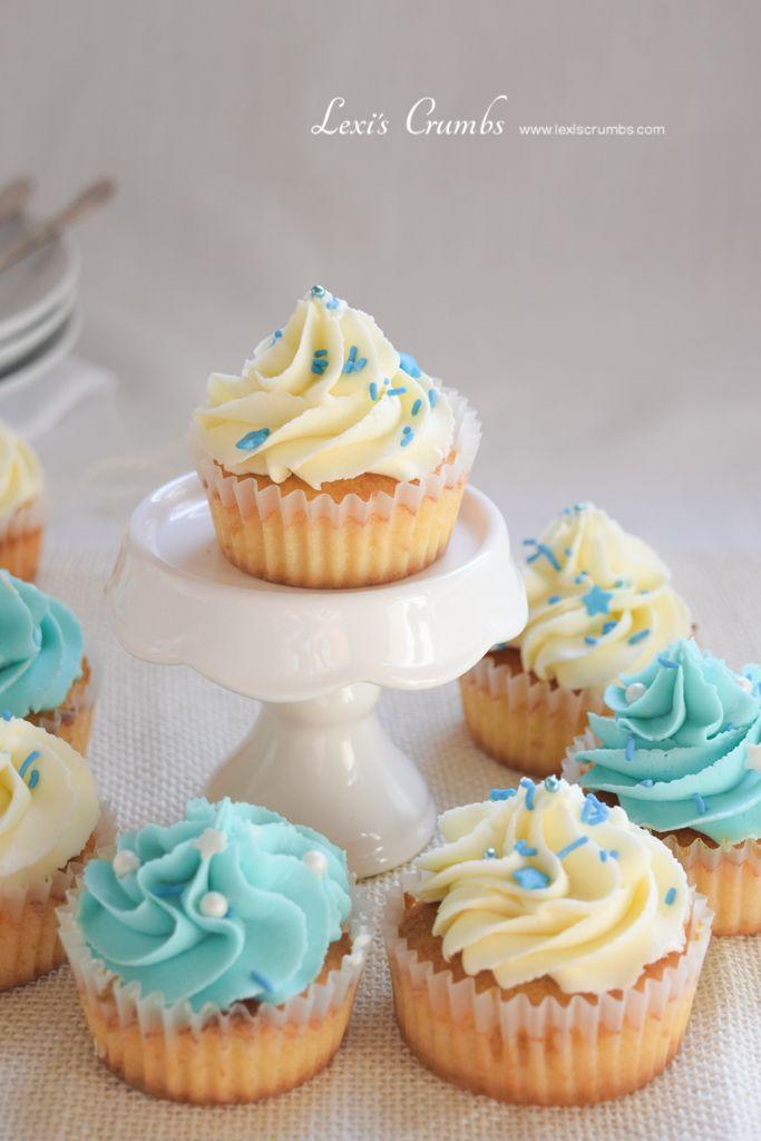 Miniature pastel cupcakes www.lexiscrumbs.com