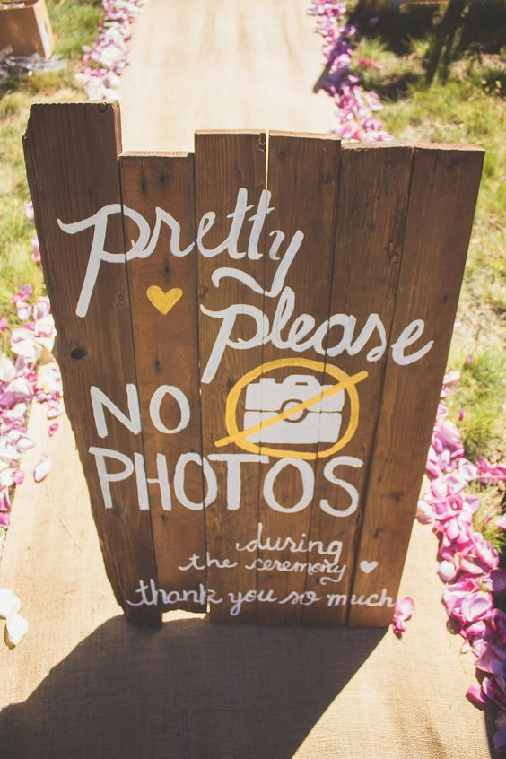 17 Ways to Politely tell your Wedding Guests you have a Photographer