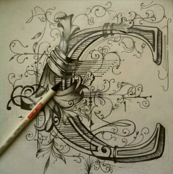 So ornate and detailed! #lettering                                                                                                                                                                                 More
