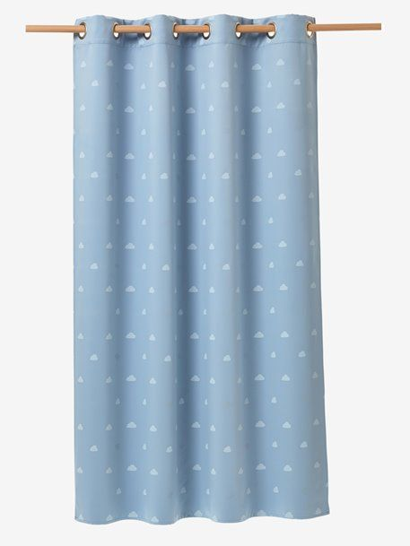 Glow In The Dark Blackout Curtain Bluewhite 2 Bodhis Room In