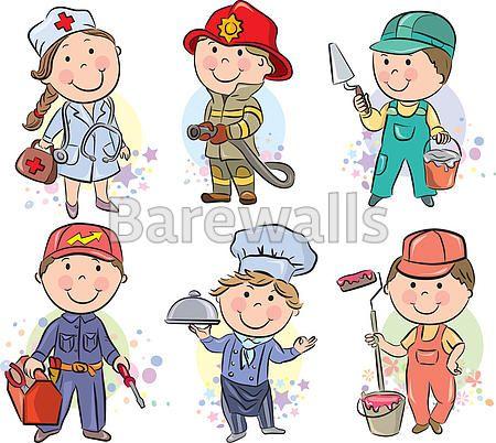 """Professions kids set 3"" - Classroom decor posters and prints available at Barewalls.com"