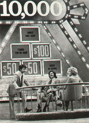 Another favorite game show of mine was Pyramid! It is a television game show which has aired several versions. The original series, The $10,000 Pyramid, debuted March 26, 1973. Dick Clark is the host most commonly associated with the show, having hosted most incarnations of it from 1973–1988. The 10,000 Pyramid show hosted by Dick Clark is the one I remember most...it first  came on TV while I was in high school.