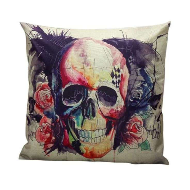 Check out our new item Skull Pillow Case.... Just added today get it here http://everythingskull.com/products/skull-pillow-case-waist-throw-cushion-cover?utm_campaign=social_autopilot&utm_source=pin&utm_medium=pin