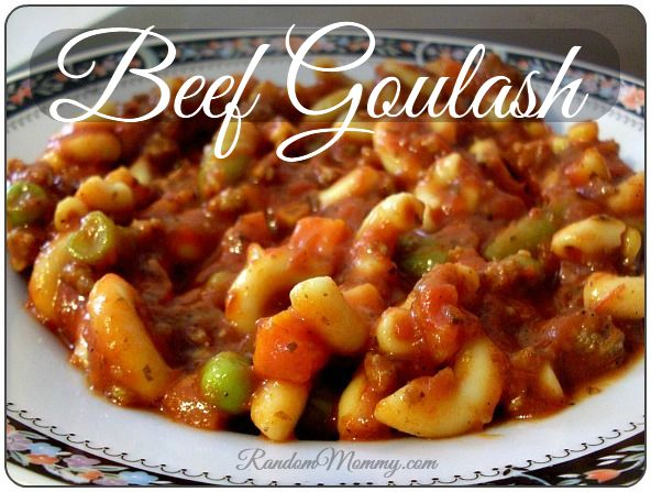 Beef Goulash recipe for Frugal Budgets | Foods to try! | Pinterest