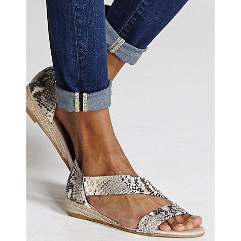 Buy Mint Velvet Ella Leather Espadrille Sandals, Snake Online at johnlewis.com