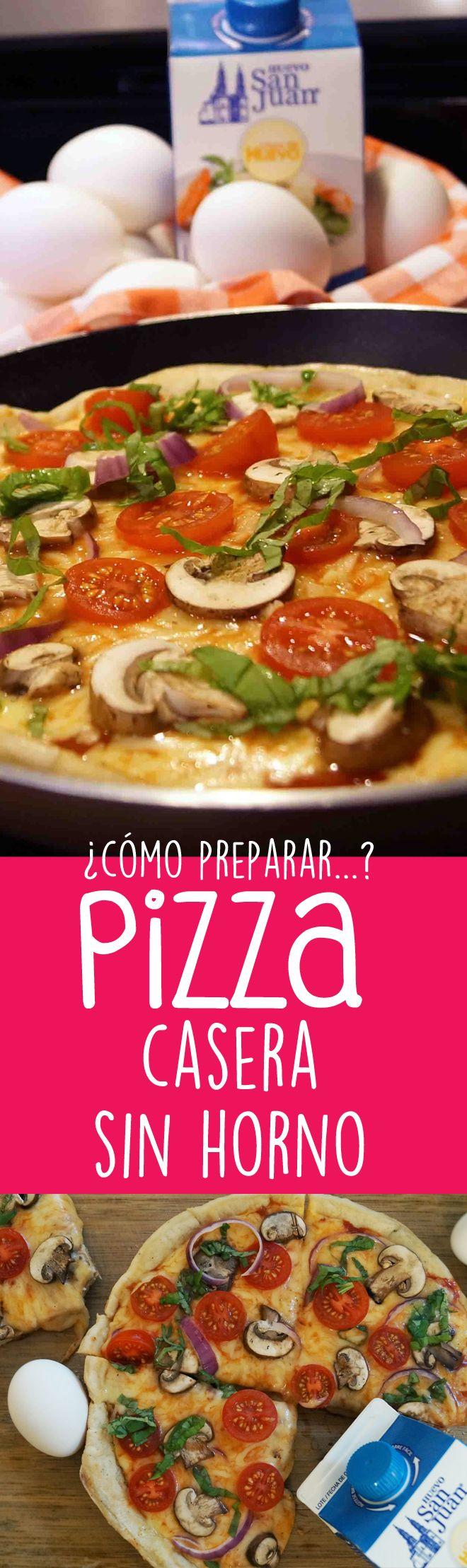 ¿Cómo preparar pizza en casa? versión saludable sin utilizar horno.