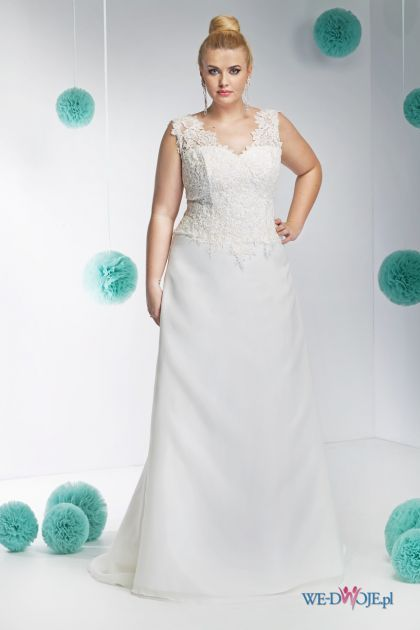 suknia ślubna Annais Bridal z koronką #polkipl