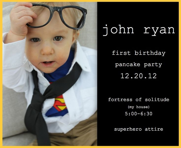 Superman birthday party. Clark kent baby. First birthday invite. Homemade. Baby superman. eh photography