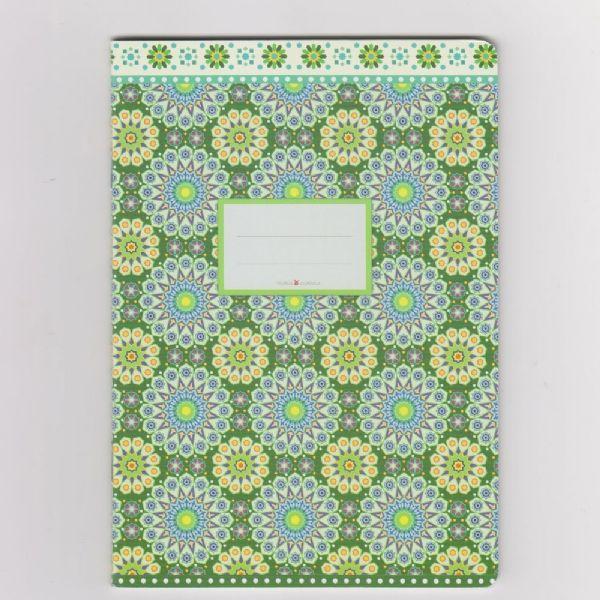 schriftje met groen patroon