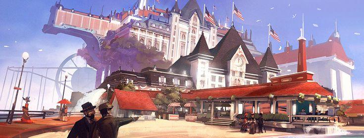 BioShock Infinite Concept Art by Ben Lo