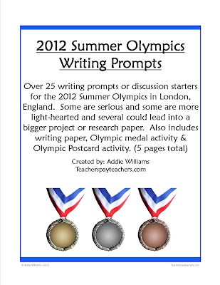The Lesson Cloud: Olympic Fun ($)  Over 25 writing prompts for this summer's Olympic Games in London. Includes two extra writing activities!