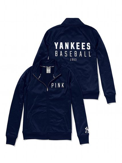 PINK New York Yankees Track Jacket #VictoriasSecret http://www.victoriassecret.com/pink/new-york-yankees/new-york-yankees-track-jacket-pink?ProductID=109322=OLS?cm_mmc=pinterest-_-product-_-x-_-x