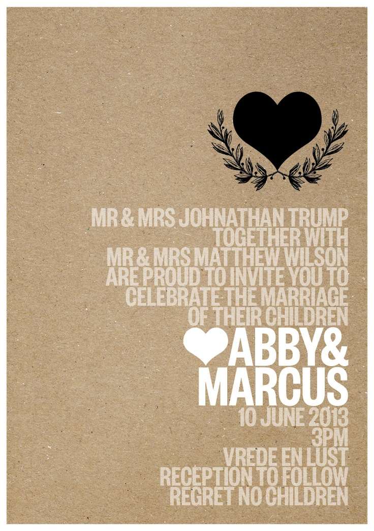 Love this invitation Eco White 'n Black.. Could be used for any type invitation or announcement