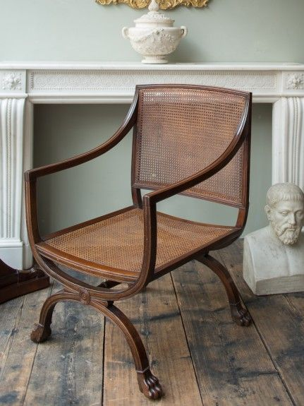 An Early 19th Century Overscale Library Bergere -