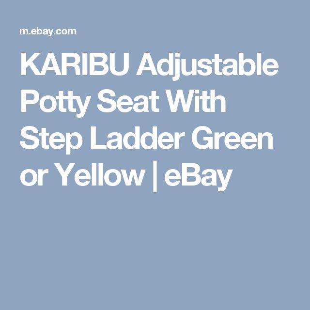 KARIBU Adjustable  Potty Seat With Step Ladder  Green or Yellow  | eBay