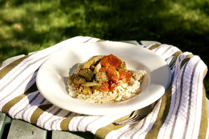 Slow Cooker Chicken Okra Stew. This was easy and really delicious.  http://www.simplelivingeating.com/2014/09/slow-cooker-chicken-okra-stew-weekend.html