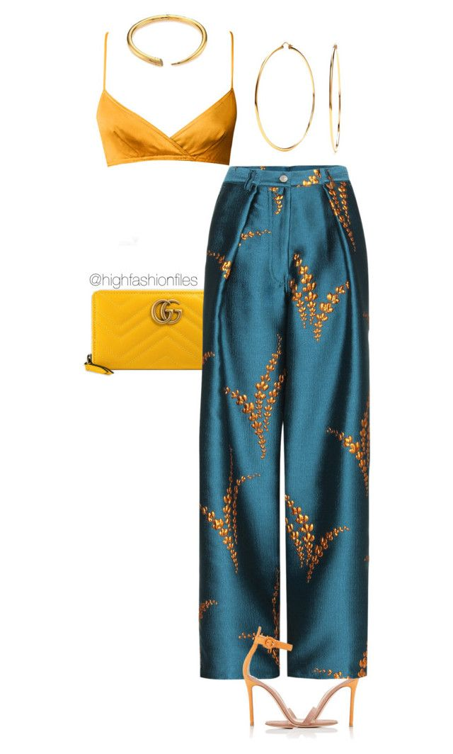 """""""Untitled #2768"""" by highfashionfiles ❤ liked on Polyvore featuring Gucci, Gianvito Rossi, Michael Kors and Nadri"""