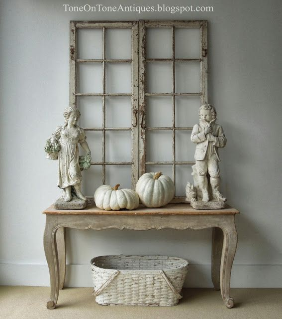 An Autumnal Tone-on-tone Vignette! Here We Have A Pair Of