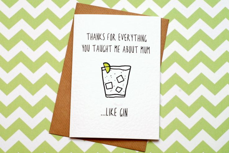 Mother's Day Card Funny Mother's Day Card Gin by GinBunnyPrints