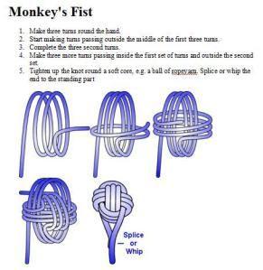 monkey fist lanyard instructions