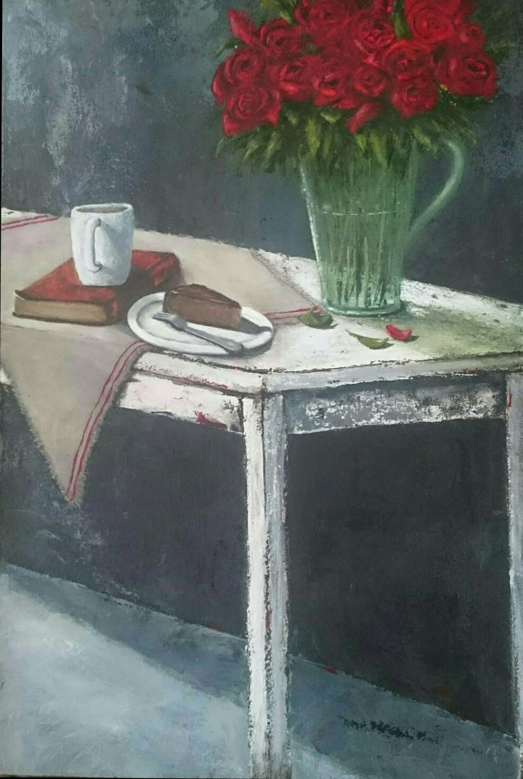 Coffee break -  Painting by Herma Kitching
