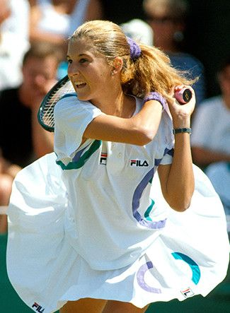 Monica Seles @ International Tennis Hall of Fame