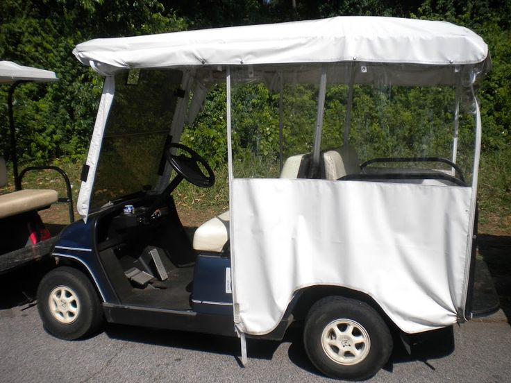 A  universal over-the-top golf cart enclosure is a welcome Yamaha golf cart accessory to keep you warm and dry. #yamahagolfcartaccessories