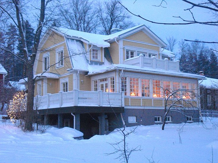 Finnish people value traditions, this is a new house made to look like an old house, Finland