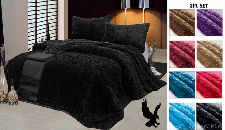 $40 -- Interior is Sherpa with a Sheepskin feel. Exterior is a Soft Long Pile Faux Fur. 1 Piece King Size Blanket ( 78 x 90). 1 Piece Queen Size Blanket ( 78x 82). 2 Pieces Pillow Case ( 20x 26). 100% polyester fabric. | eBay!