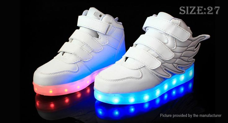 Unisex Kids LED Light Up Wings Decorative Shoes Sneakers (Size 27/White) Footwear 5076602 - https://xtremepurchase.com/TechStore/2016/09/01/sports-outdoors-footwear-5076602/