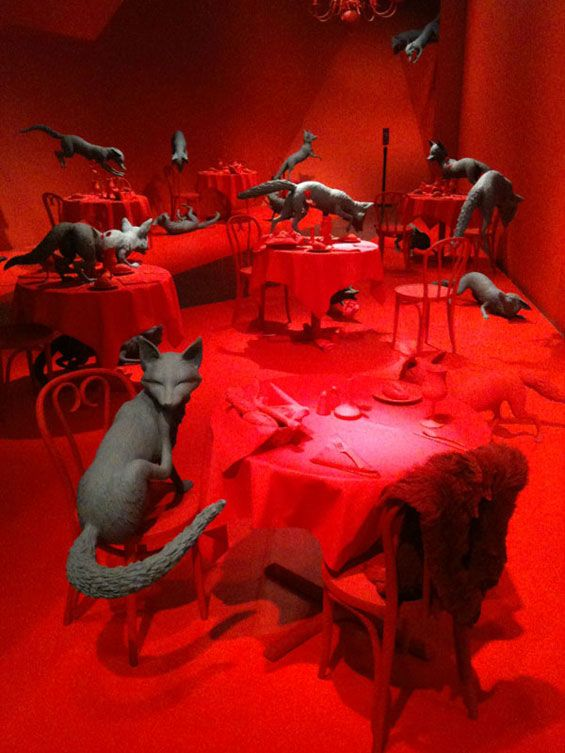 Sandy Skoglund..saw this exhibit @ the Toledo Museum of Art and it was my all time fav exhibit so far!