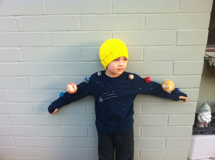 Solar system costume DIY, felted wool, easy | Outer Space ...