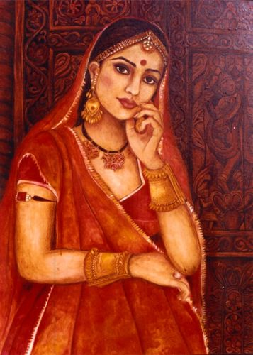 Shuchi Krishan - paintings, indian painter, oil paintings, contemporary indian woman, ancient world architecture, portraints, rajasthani architecture, harelis and forts
