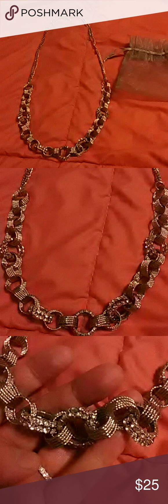 Stunning Ladies Necklace Silver with lots of bling, bought on QVC QVC Jewelry Necklaces