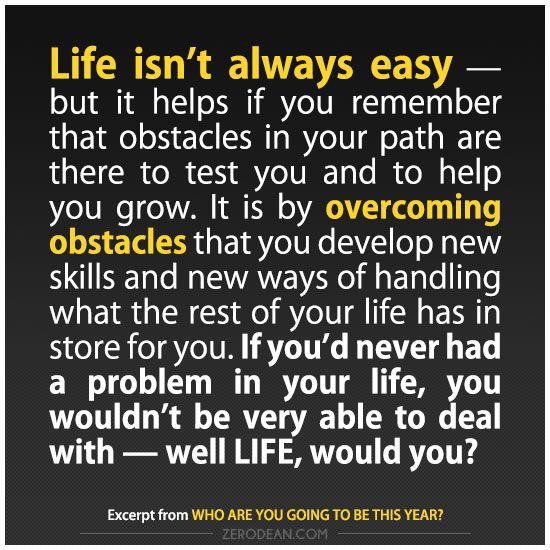 'Life isn't always easy'