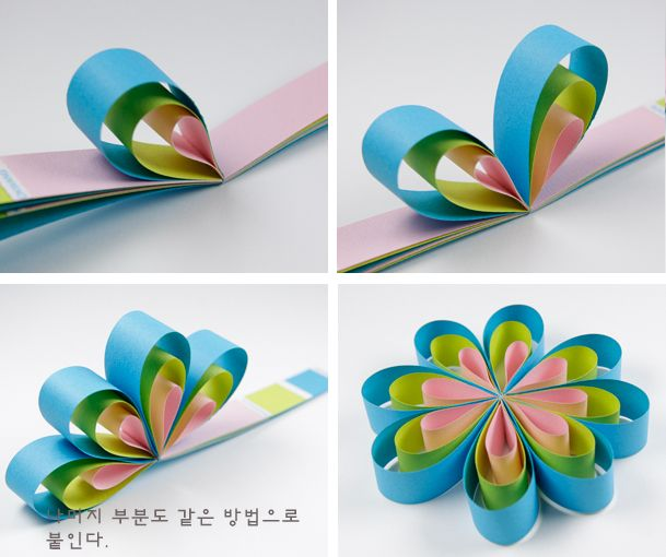 tutorial de flor tricolor de papel