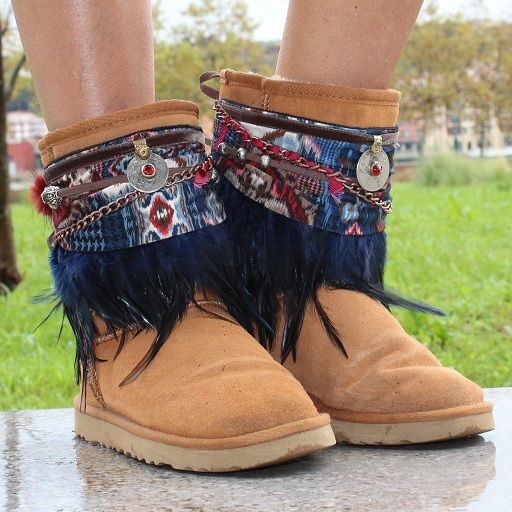 1192394a Botas UGG decoradas con decora botas Boho Chic, Bohemian, Boot Bling, Boho  Fashion