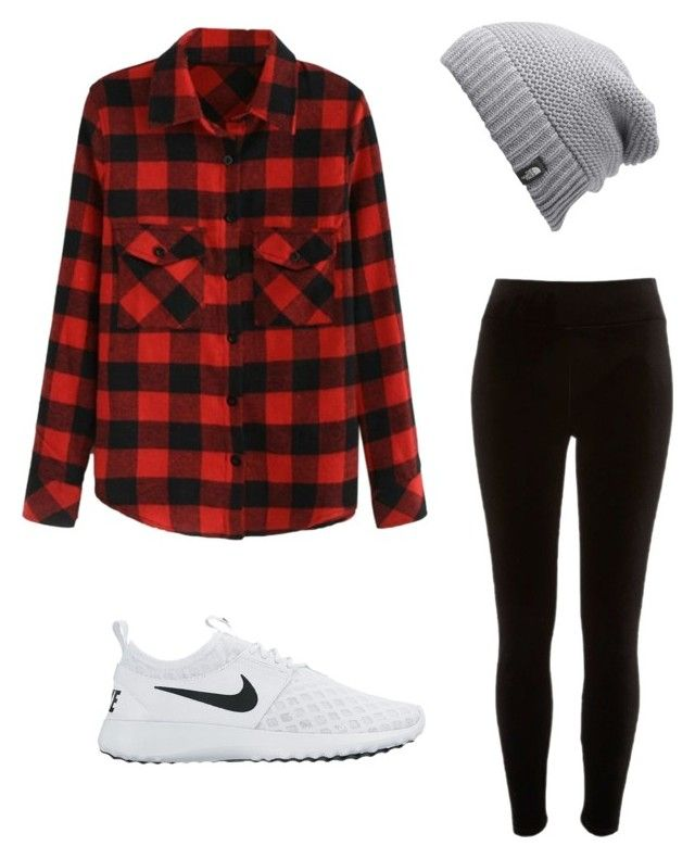 """""""Untitled #9"""" by iconti on Polyvore featuring River Island, NIKE and The North Face"""