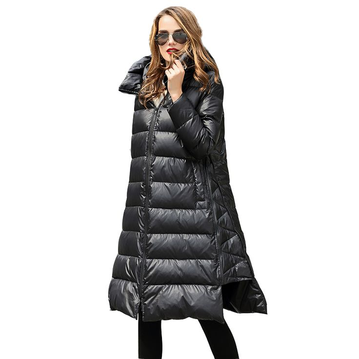 Find More Down & Parkas Information about High Quality 2016 Italy Women Parka Winter Jacket Female XL Long White Duck Down Parkas Coat Thick Solid Hoody Winter Down Coats,High Quality down parka coat,China parka coat Suppliers, Cheap womens down parka from Women Little Secret Store on Aliexpress.com