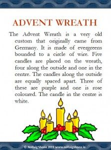 Information about the meaning of the Advent Wreath on Powerpoint