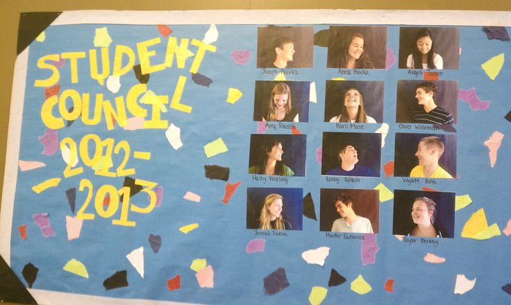 Student Council Bulletin Board Creations