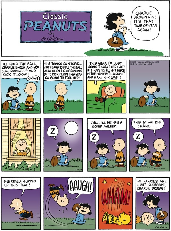 Peanuts Cartoon for Oct/14/2012