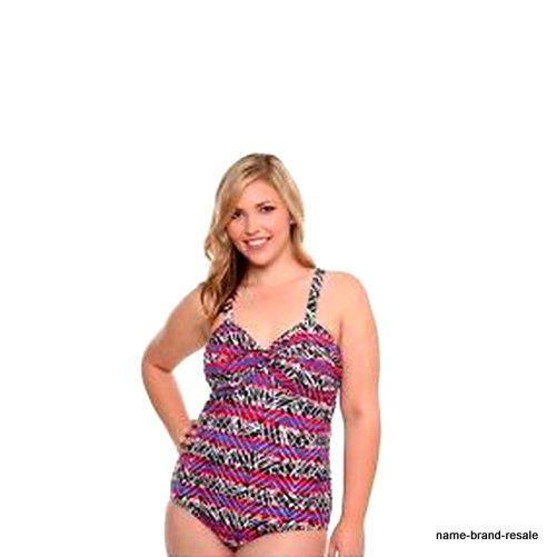 NWT $68 TORRID PLUS Size 2 2X 18 20 UNDERWIRE 1pc AZTEK Swimsuit Swim Wear Suit #TORRID #OnePiece