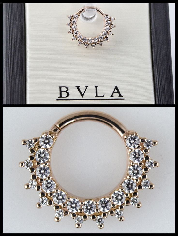 "nihilxvx: "" dansteinbacher: "" We just got a huge BVLA order in at Saint Sabrinas. This is one of our 14k rose gold ""Kolo"" seam rings with all clear cz's. "" Dang. """