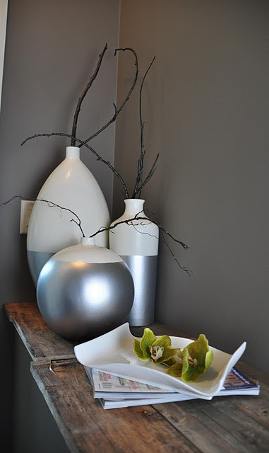 Dipped vases, or if you check out the tute. baskets, glasses, and more.